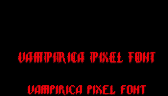 Vampirica Pixel Font