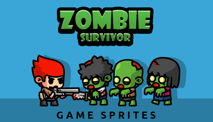 Zombie Survivor Game Sprites