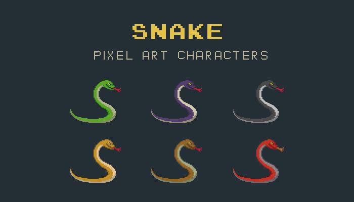Snake Pixel Art Animal