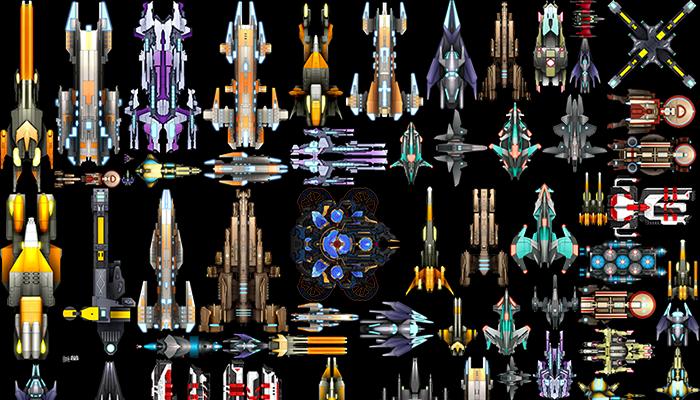 80 2D SPACESHIPS