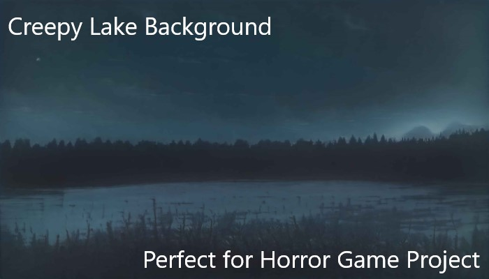 Creepy Lake Background Painting