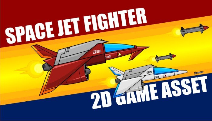 Space Jet Fighter – Game Asset
