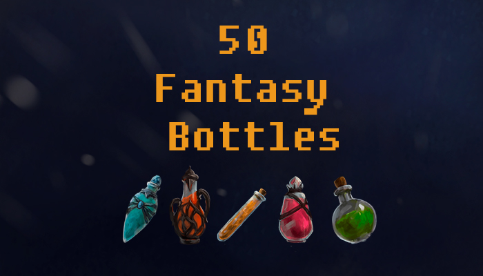 Fantasy Bottle and Potion Icons