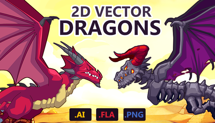 2D Vector Dragon 01