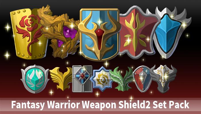 Fantasy Warrior Weapon Shield2 Set Pack