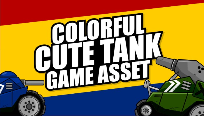 Colorful Cute Tank Game Asset