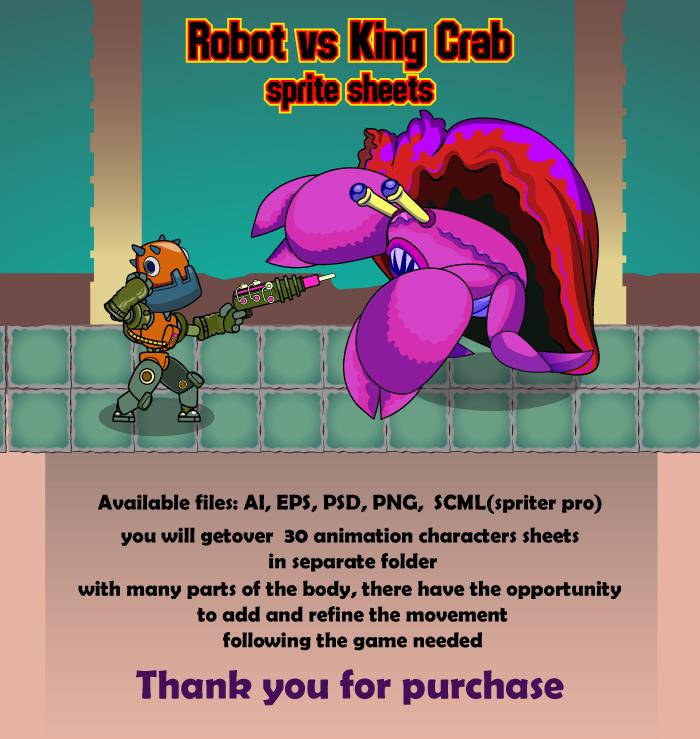 Robot vs King Crab