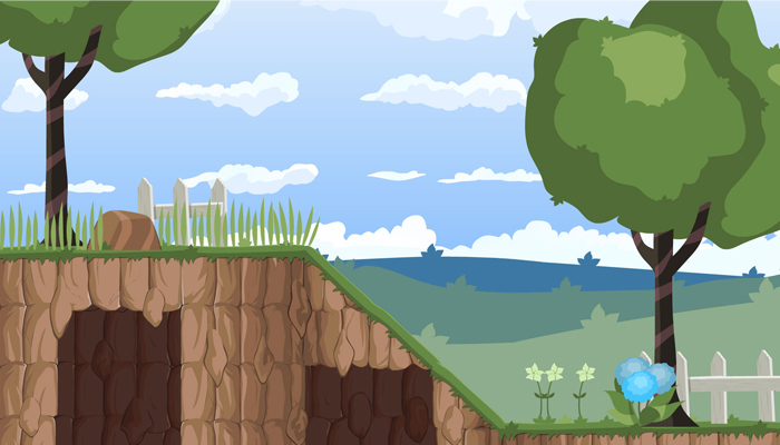 Scroller Plataformer Pack. Field and Forest Stage.