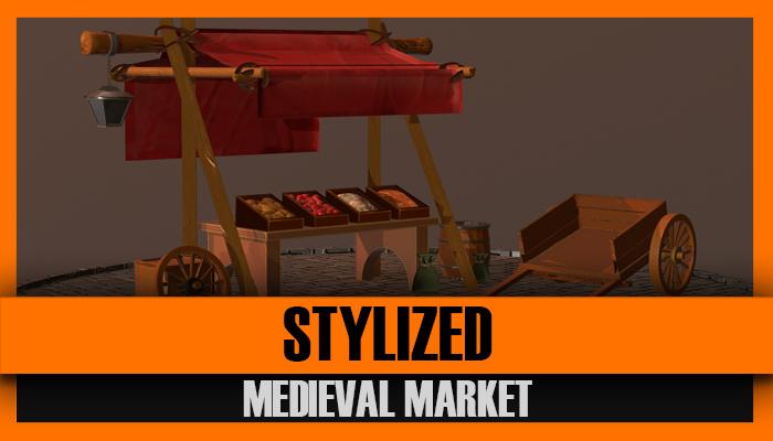 Stylized Medieval Market