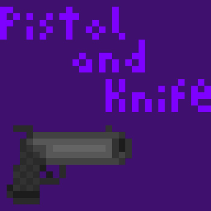 Pistol and Knife 32×32