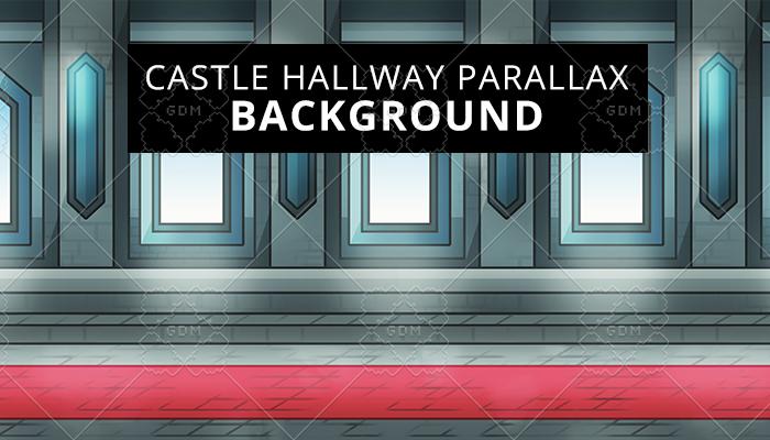 Castle hallway parallax background