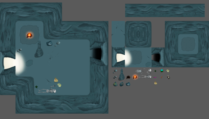 tiles cave