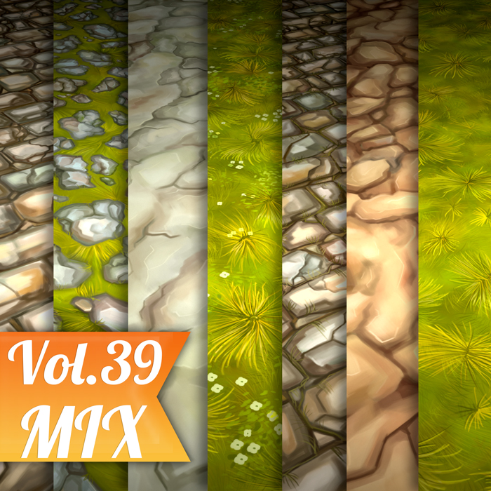 Stylized Ground Mix Vol 39 – Hand Painted Textures
