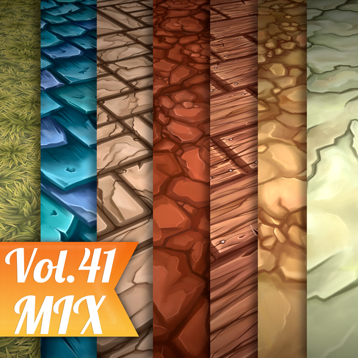 Stylized Mix Vol 41- Hand Painted Textures