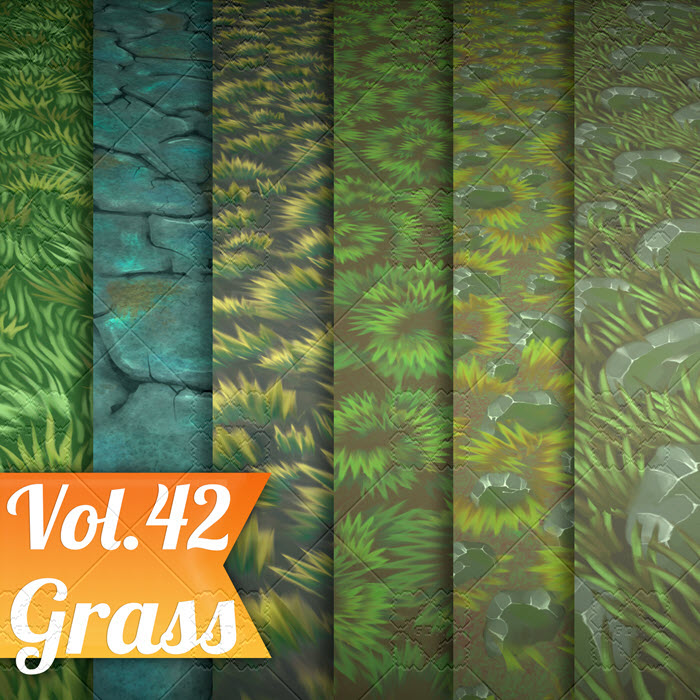 Stylized Grass Vol 42 – Hand Painted Textures