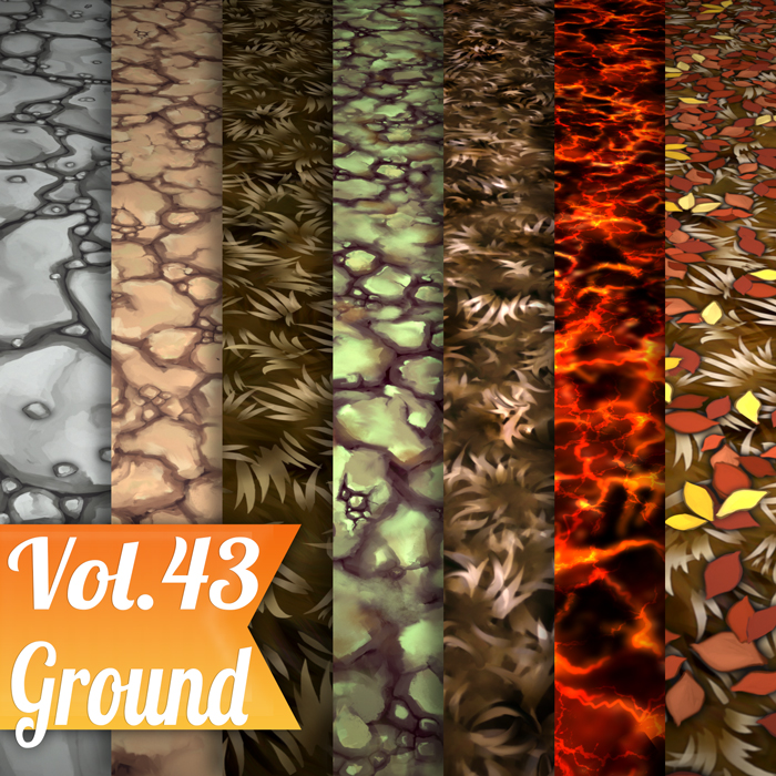 Stylized Ground Mix Vol 43 – Hand Painted Textures