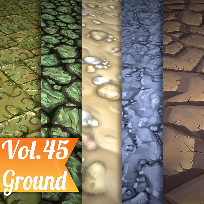 Stylized Ground Vol 45 – Hand Painted Textures