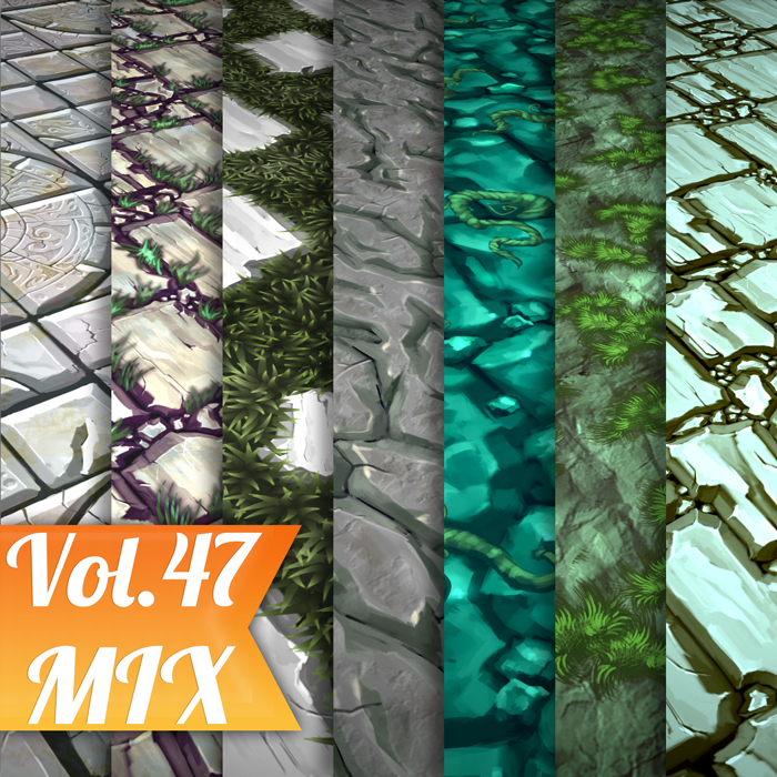 Stylized Mix Vol 47 – Hand Painted Textures