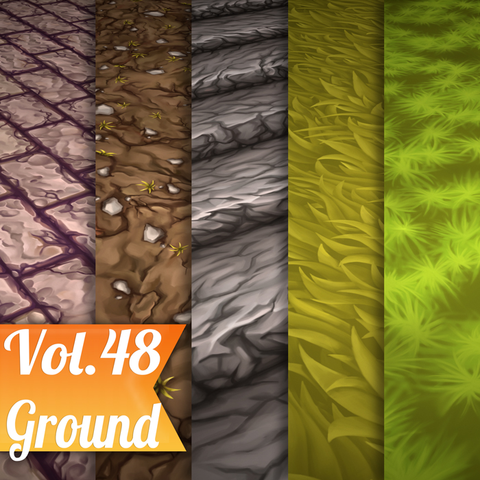 Stylized Ground Vol 48 – Hand Painted Textures