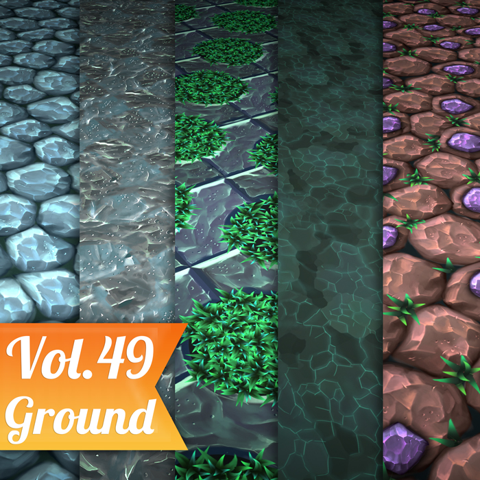Stylized Mix Vol 49 – Hand Painted Textures