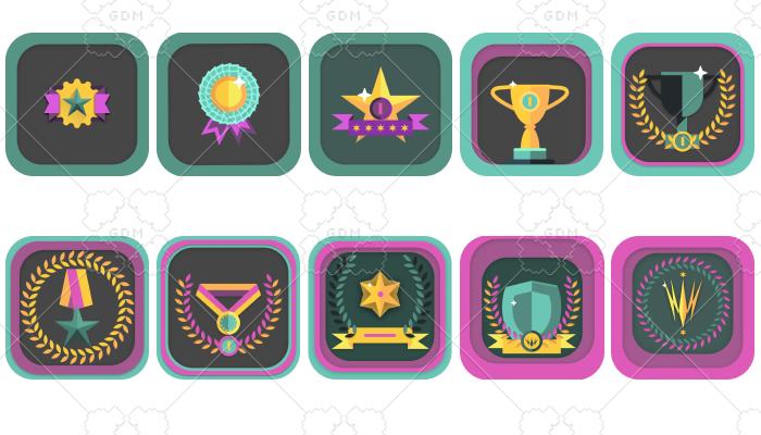 level icons