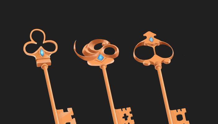keys – hand painted