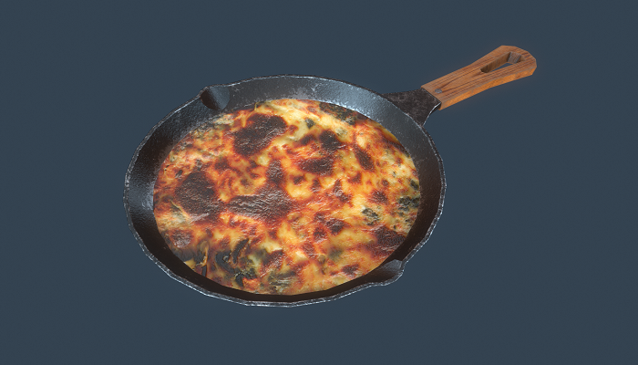 Frying pan Low-poly 3D model