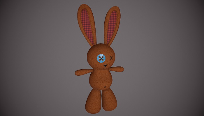 Teddy Rabbit Low-poly 3D model