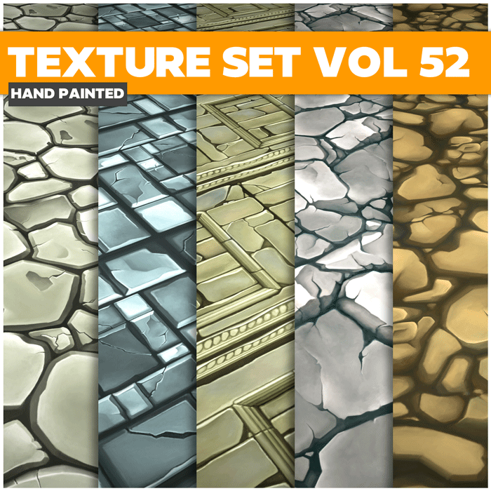 Stylized Floor Vol 52 – Hand Painted Textures