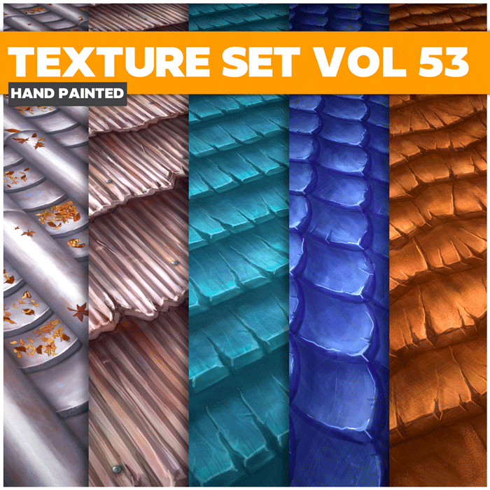 Stylized Roofs Vol 53 – Hand Painted Textures
