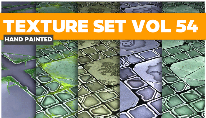 Stylized Tiles Vol 54 – Hand Painted Textures
