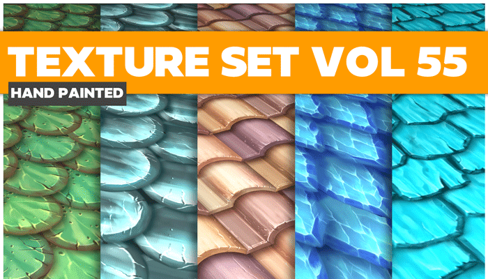 Stylized Roof Vol 55 – Hand Painted Textures