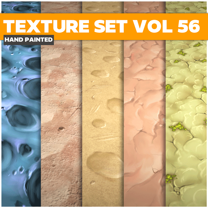 Stylized Terrain Vol 56 – Hand Painted Textures