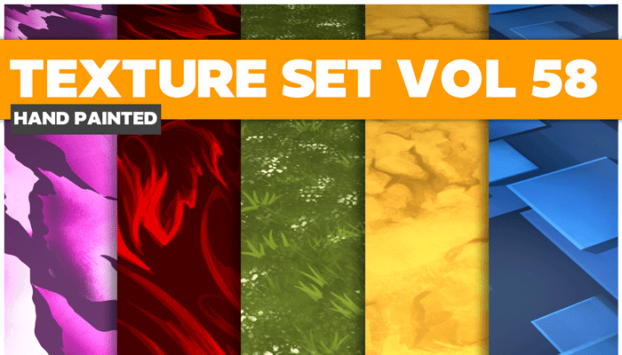 Stylized Surface Vol 58 – Hand Painted Textures