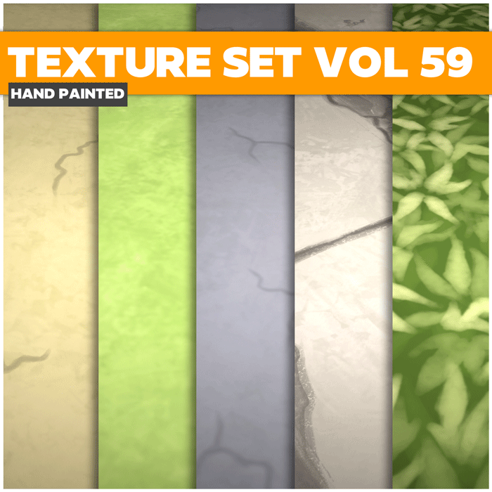 Stylized Road Vol 59 – Hand Painted Textures