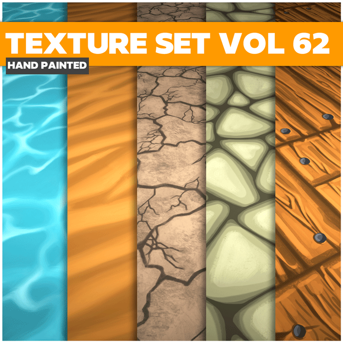 Stylized Terrain Vol 62 – Hand Painted Textures