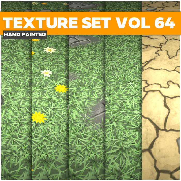 Stylized Grass Vol 64 – Hand Painted Textures