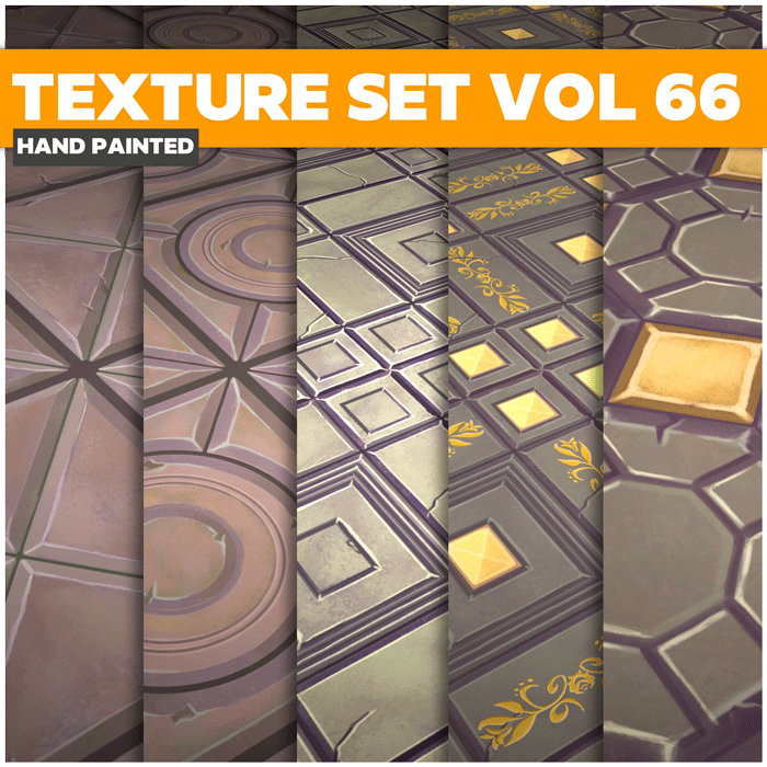Stylized Tiles Vol 66 – Hand Painted Textures