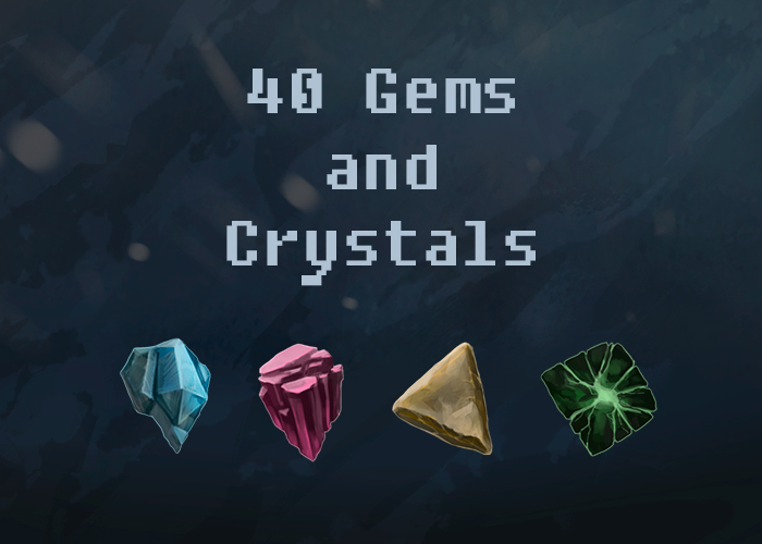 Fantasy Gem and Crystal Icons