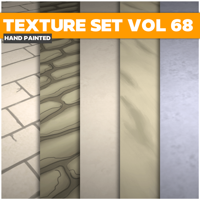 Stylized Terrain Vol 68 – Hand Painted Textures
