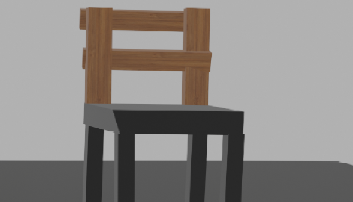 3d Broken Chair