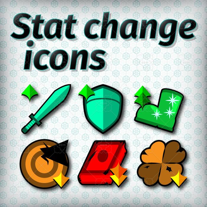 Stat change icons