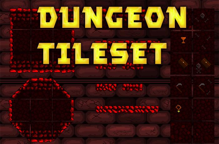 Pixel-Art Dungeon Tileset
