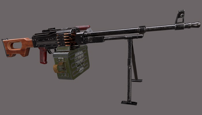 PKM Machine Gun Low-poly 3D model