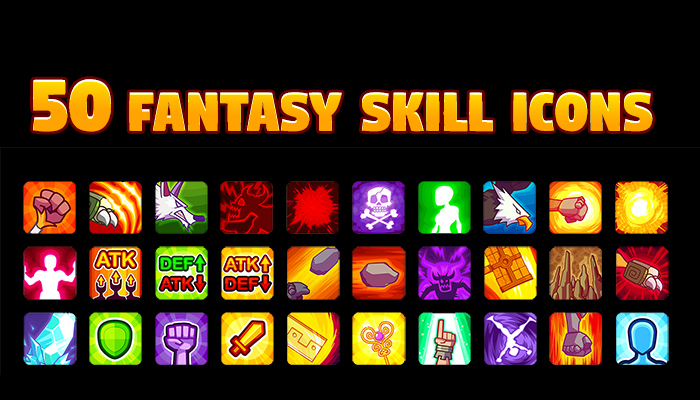 50 Fantasy Skill Icons