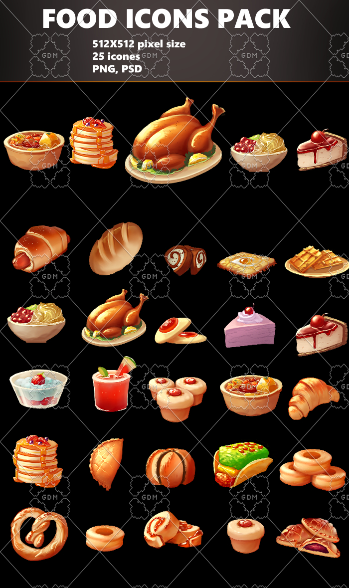 Food Icons Asset