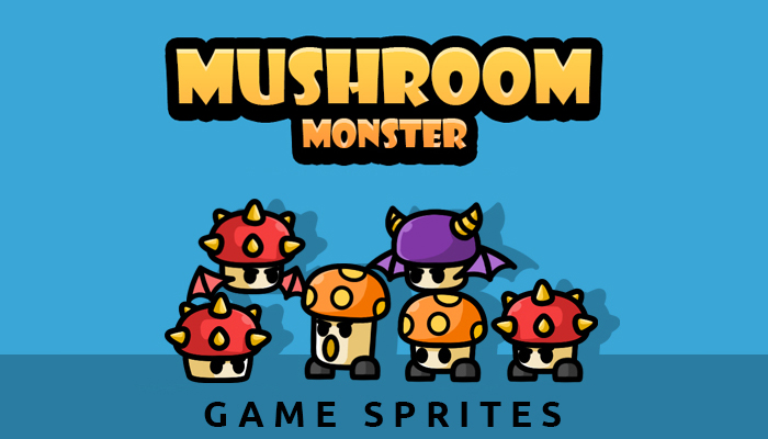 Mushroom Monster Game Sprites