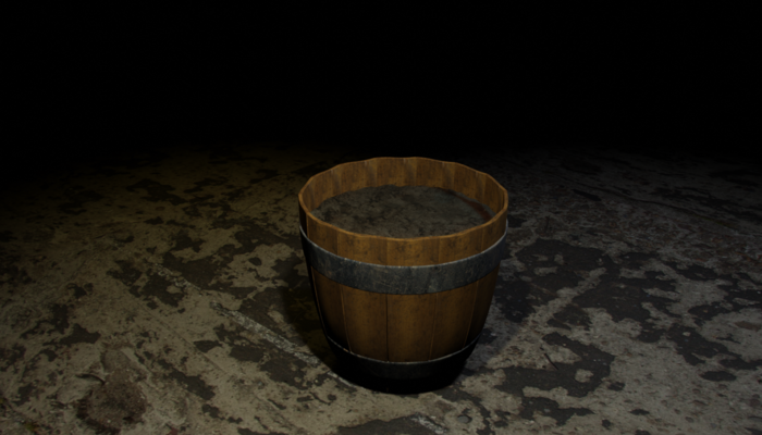 Barrel plant pot