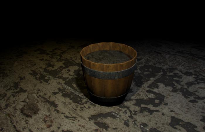 Barrel plant pot