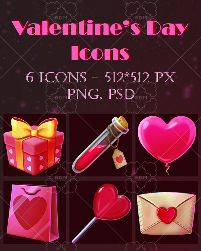 Valentine's Day gift icon asset